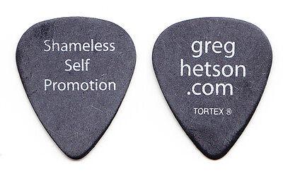 Bad Religion Greg Hetson Shameless Self Promotion Black Guitar Pick - 2006 Tour