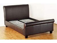 Real leather double bed first to see it will buy it