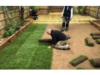 FENCING FLAGGING PAVING TURFING ARTIFICIAL GRASS DRIVEWAYS GARDEN SERVICES DECKING TREE WORK