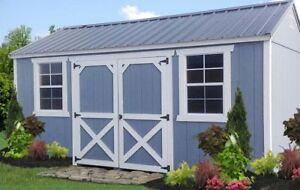 storage sheds, cabin, barn
