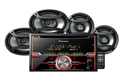 """Pioneer FXT-X7269BT FH-X720BT CD Player Receiver + 6.5"""" & 6""""x9"""" Speakers Combo"""