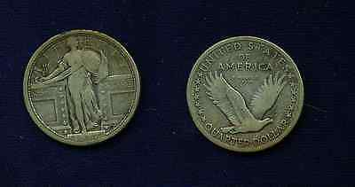 U.S. 1917 S  STANDING LIBERTY QUARTER   TYPE I  ABOUT VF