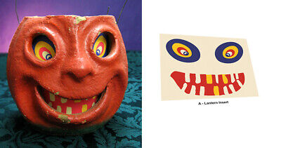 REPLACEMENT GLASSINE PAPER INSERT FOR WOBBLY GRIN HALLOWEEN LANTERN #A