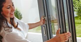 Ex Display Grey 3 Leaf Bi Folding Doors