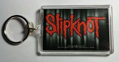AS-IS SLIPKNOT GREY SHADOWING MUSIC '01 VINTAGE BLACK KEY CHAIN KEYCHAIN