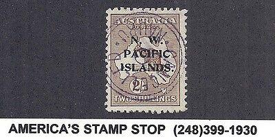 1919 NWPI Australia New Guinea - SG 115, Wmk 6, Used, Narau CDS - Kangaroo*