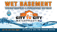 CITY TO CITY WATERPROOFING & FOUNDATION EXPERTS !!!