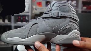 Jordan 8 Cool Grey Suede