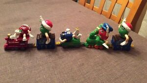 Vintage M & M Christmas Train and Ornaments