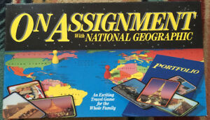 1990 National Geographic On Assignment Board Game