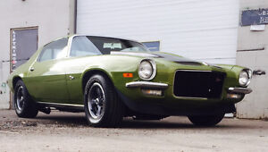 PRO TOURING 1971 REAL z28 CITRUS GREEN 4 SPEED !