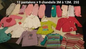 Lot de vêtements pour fille (3 à 24 mois)