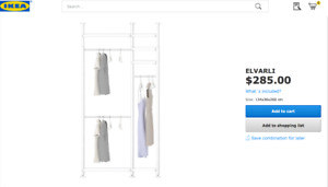 elvarli post unit closet system