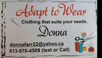 Adaptive Clothing for Seniors & Special Needs (Alterations)