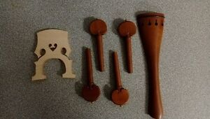Cello German made rose wood tail, cello parts and bows