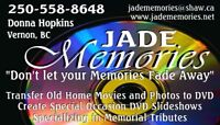 SPECIAL OCCASION SLIDESHOWS - HOME MOVIES CONVERTED TO DVD
