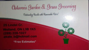 ****FALL CLEAN UP** Autumn's Garden and Grass Grooming