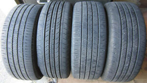 Four 205/55-R16: 2x Michelin Primacy MXV4 and 2x GoodYear