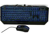 Cooler Master Devastator - Blue LED Backlit Mouse and Keyboard Gaming Bundle