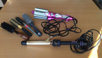 Hair Waver, Curling Iron & Brushes / Fers à friser & brosses