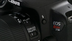 Brand new Canon T5i with 2 lens + 1 camera bag
