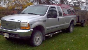 99 Ford F-250 XLT 4x4 Superduty Pickup Truck. TRADE