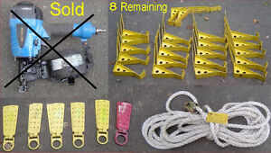Roofing Roof Jacks Nailer etc used once. Pricing in Description