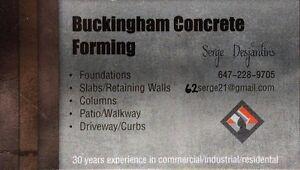 Buckingham Concrete Forming