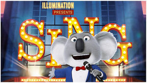 """Free Movie Tickets for March 18th to see """"SING"""""""
