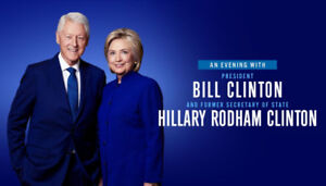 An Evening with The Clintons - Face value - 2 tks (25% off)