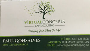 Virtual Concepts Landscaping - servicing southern Ontario..