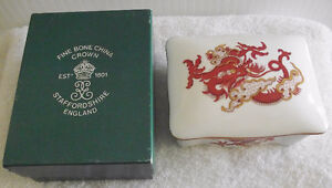 VINTAGE STAFFORDSHIRE CROWN TRINKET BOX $15.00.