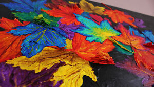 """Autumn's Cloak"" - New Original 3D Painting Stratford Kitchener Area image 5"