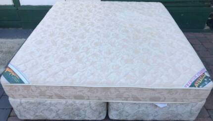 Excellent condition Latex King size mattress and base for sale