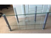 Glass 3 tier TV Table stand