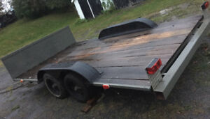 14 foot flat deck trailer