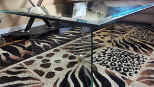 Large Bevelled glass top and base coffee table London Ontario image 7