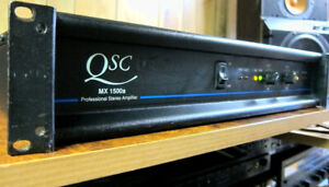 QSC MX 1500A STEREO POWER AMPLIFIER LIKE CROWN * U*S*A *
