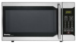 New! Danby Designer 0.7 Cubic Foot Microwave, Stainless Steel