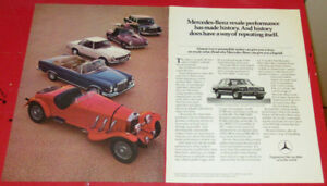 1981 MERCEDES BENZ SL AD WITH VINTAGE HISTORIC MODELS - ANONCE