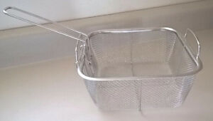"""Fry Basket Strainer Fits 9.5"""" Square Copper Chef Pan Frying Cook"""