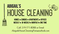 Cleaning - Residential and Apartment