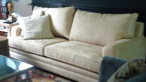 BEAUTIFUL LARGE ULTRASUEDE COUCH