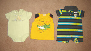 Boys Clothes, Pram, Overalls, Oilers hat 6, 9, 6-12, 12, 12-18 m