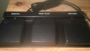3 pedal dictation controller