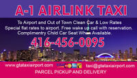 Oakville Airport Van Taxi Low Flat rate Service 1 416 456 0095