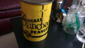 Rare Pasquale Blanched Peanuts 5lbs canister antic