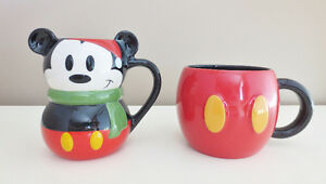 Mickey Mouse Disney Store Mugs Cups Set of Two