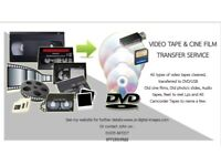 Video tapes cine fim to usb /dvd