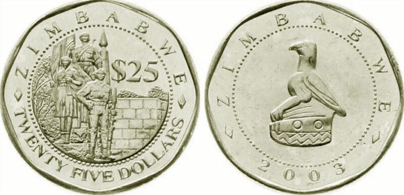 Zimbabwe 2003 25 Dollar Uncirculated (KM15)